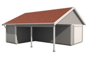 Carport & garage 64 kvm