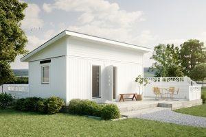 attefallshus funkis 25kvm bygga stuga