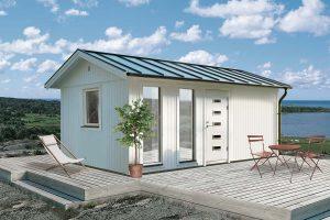 Attefallshus 18,4 kvm Vibo Jenny byggsats gästhus gäststuga sadeltak