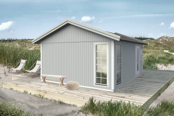 Attefallshus 25 kvm Vibo Lisa byggsats gästhus gäststuga sadeltak fritidshus
