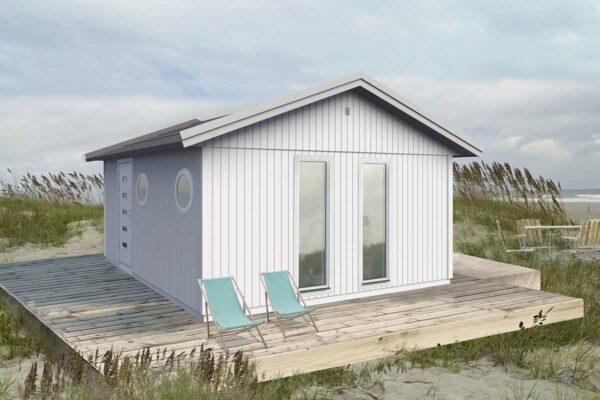 Attefallshus 25 kvm Vibo Maja byggsats gästhus gäststuga sadeltak fritidshus