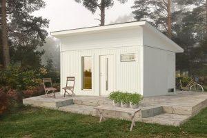 Attefallshus 20 kvm Vibo Njuta Funkis 20-2 byggsats gästhus gäststuga fritidshus förråd