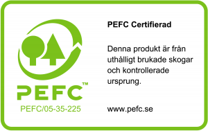 PEFC logga Vibostugan attefallshus friggebodar